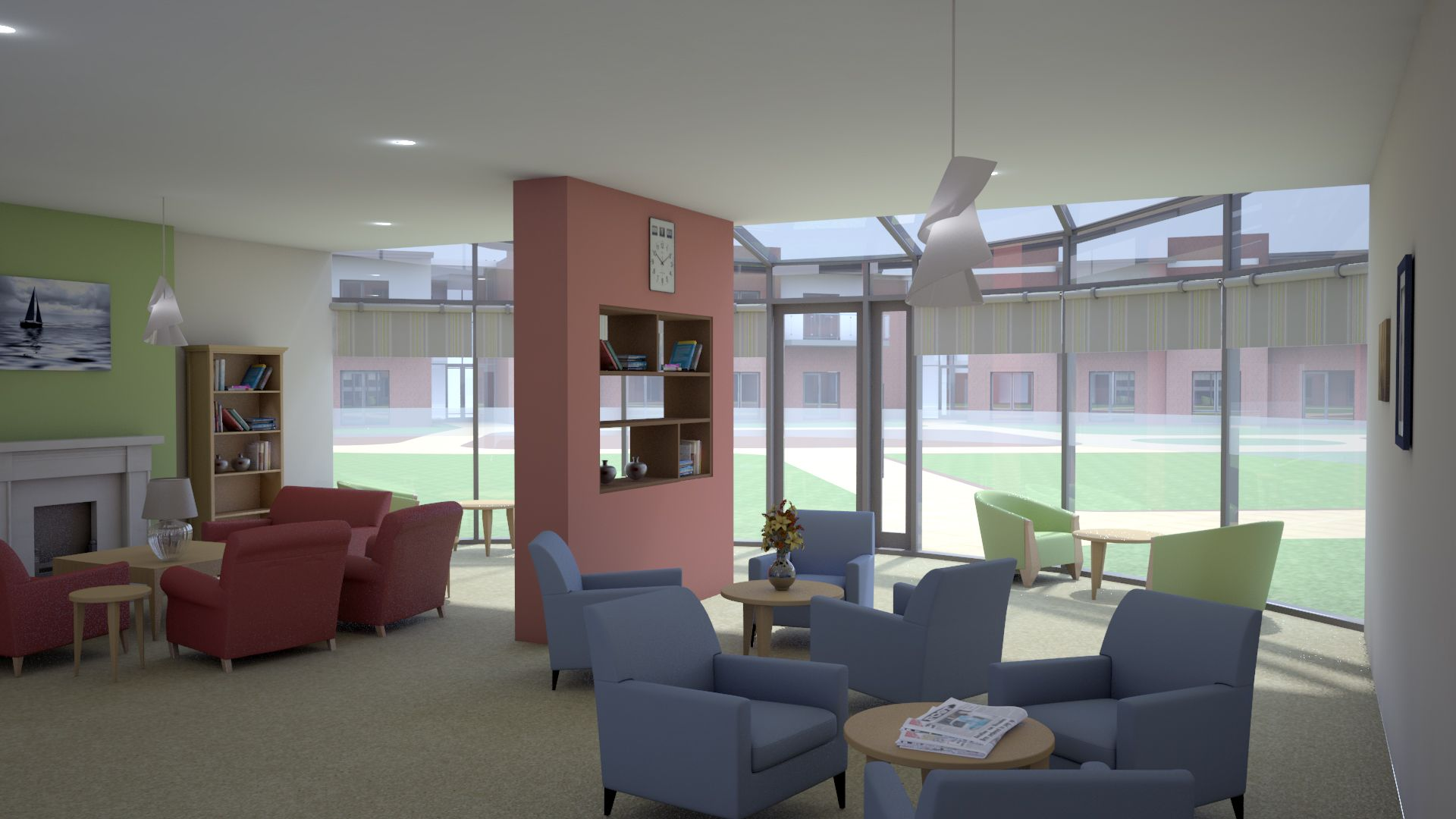 Lounge Interior Leads Road Hull A Development Comprising Of 156 Extra Care Apartments