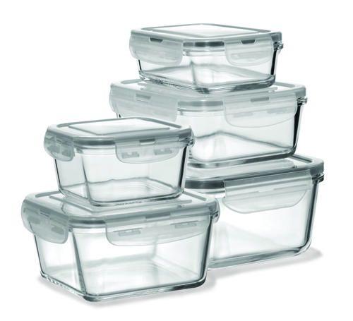 10 Piece Glass Food Storage Set At Menards