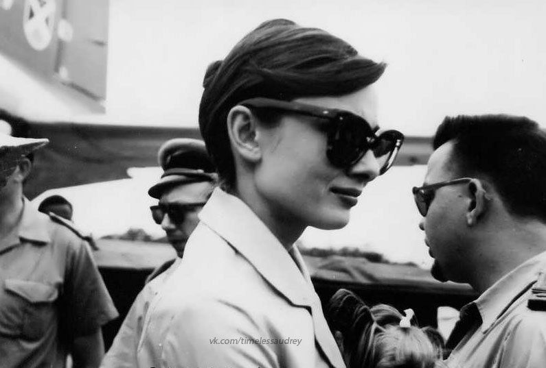 Audrey Hepburn photographed in Nice, 1960