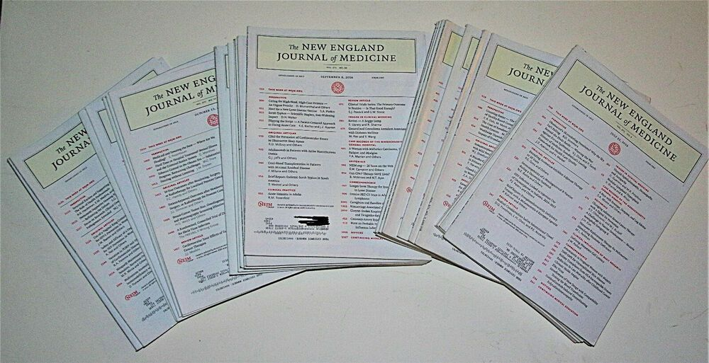 Details About 25 July Thru December 2016 New England Journal Of Medicine Back Issue Magazines In 2020 Medicine Journal Medicine Journal