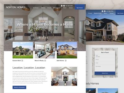 Custom Home Builder Website | Web Design - Real Estate | Pinterest ...