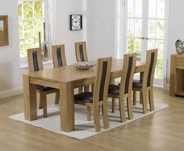 Thames 220Cm Solid Oak Dining Table With Toronto Chairs Mesmerizing Oak Dining Room Table And 6 Chairs Decorating Design