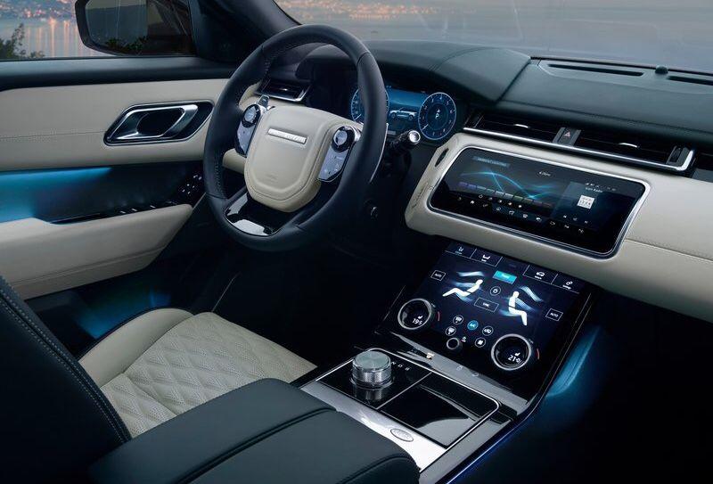 Landrover Range Rover Velar interior Landrover range