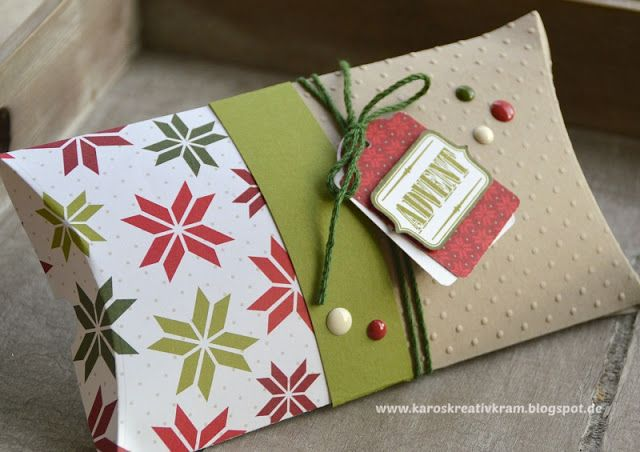 Geschenkbox 4er Set Weihnachten Geschenk  Xmas Verpackung Verpacken Nostalgie