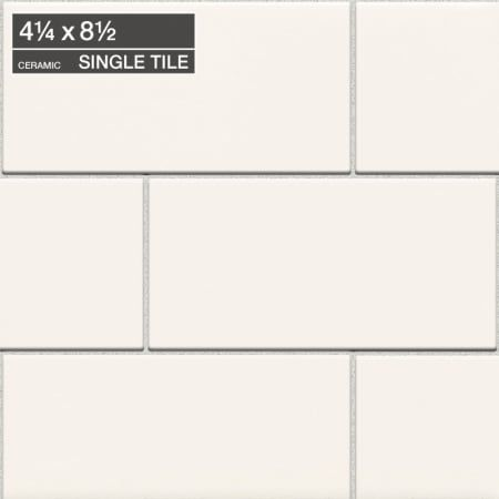 Daltile 4x8 Subway Tile Arctic White Use A Slightly