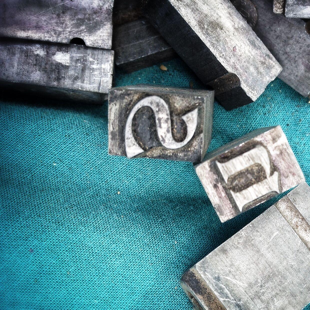 TypesetterS Metal Type Letters  Zecer Typesetter