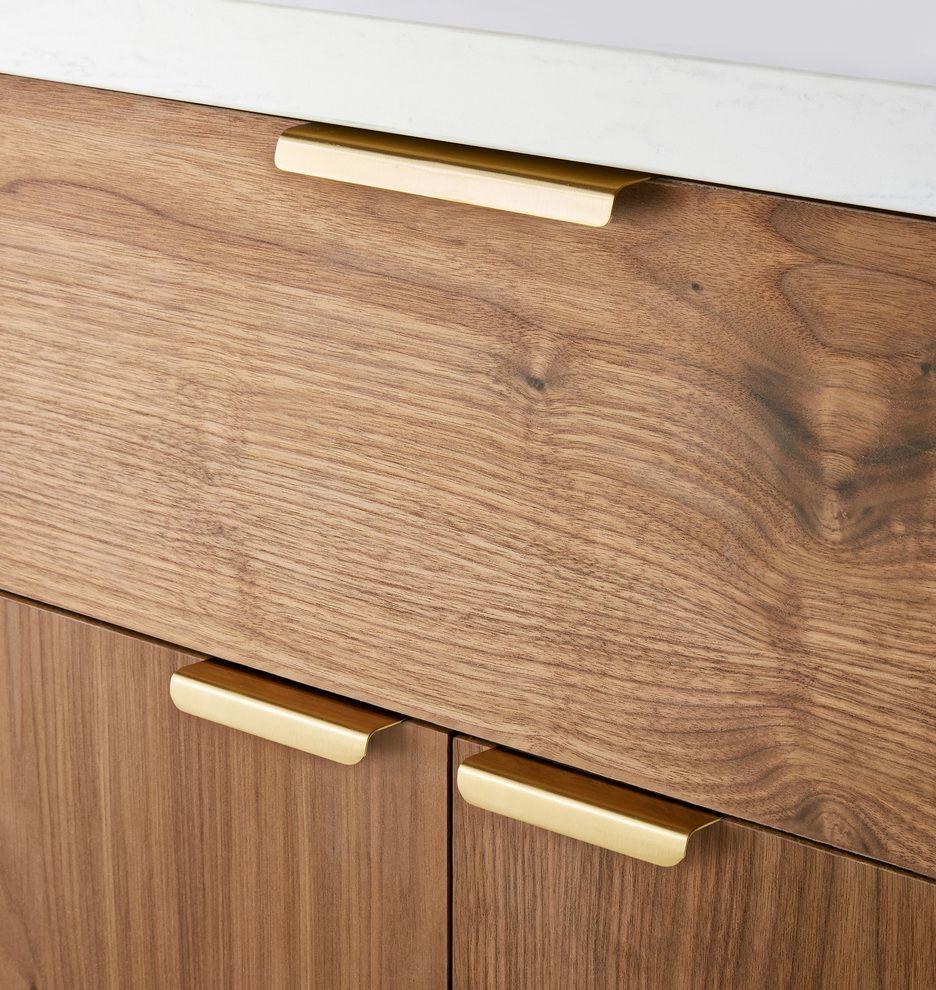 Edge Pull Kitchen Pulls Satin Brass Door Pulls