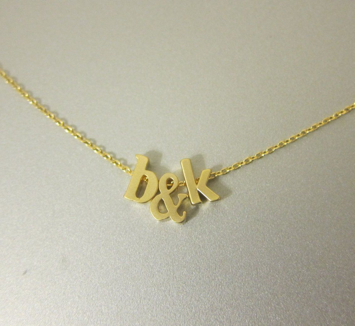 Gold filled ChainTwo Lowercase Initial by GreatJewelry4All on Etsy, $35.00