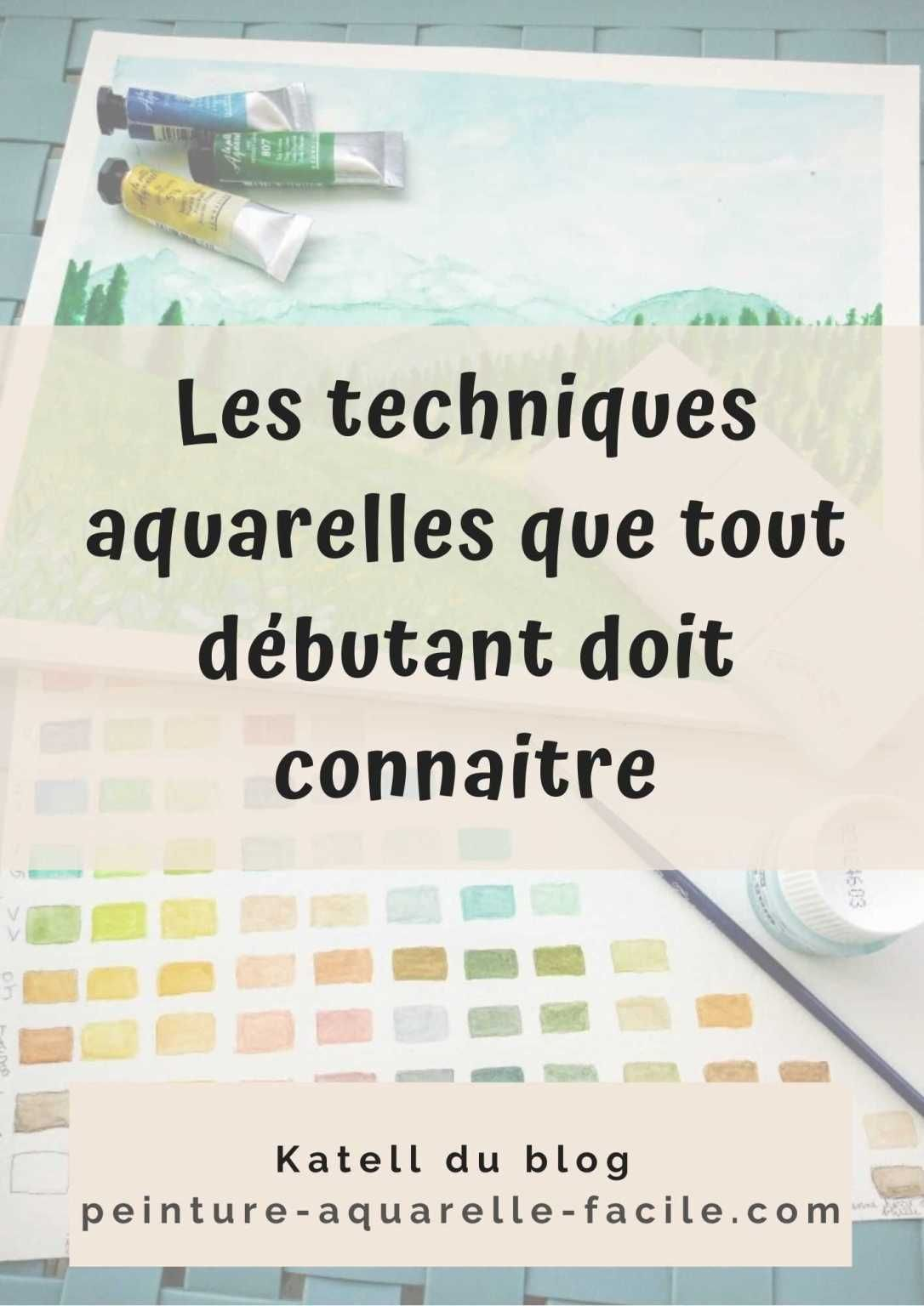 Les Techniques Aquarelles Que Tout Debutant Doit Connaitre