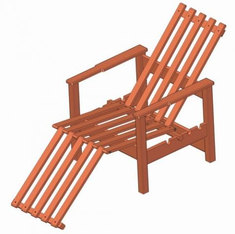 Garden Adjustable Wooden Chair Plan Pallet Wood Projects
