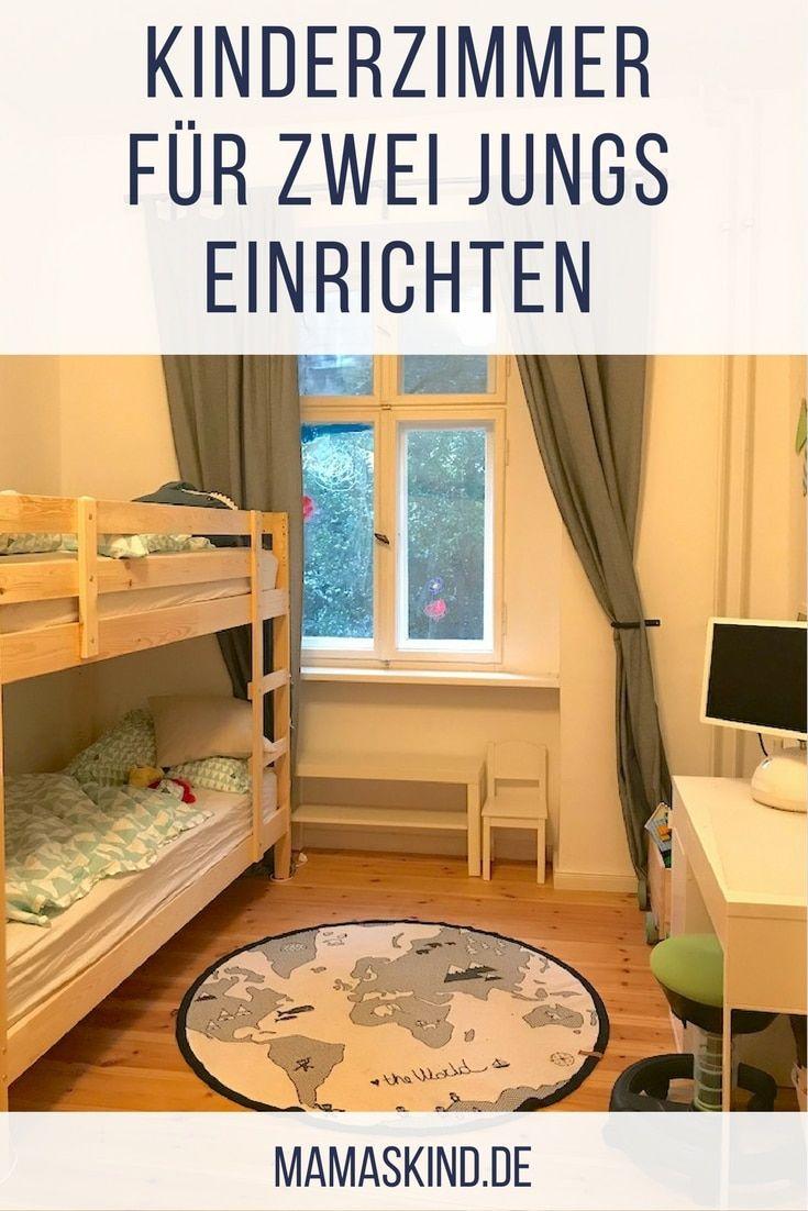 kinderzimmer f r zwei jungs ideen zum einrichten mit etagenbett gemeinsame kinderzimmer. Black Bedroom Furniture Sets. Home Design Ideas