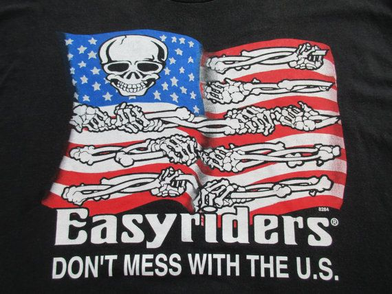 VTG Easyriders T-Shirt Don't Mess with the US by GeekGirlRetro