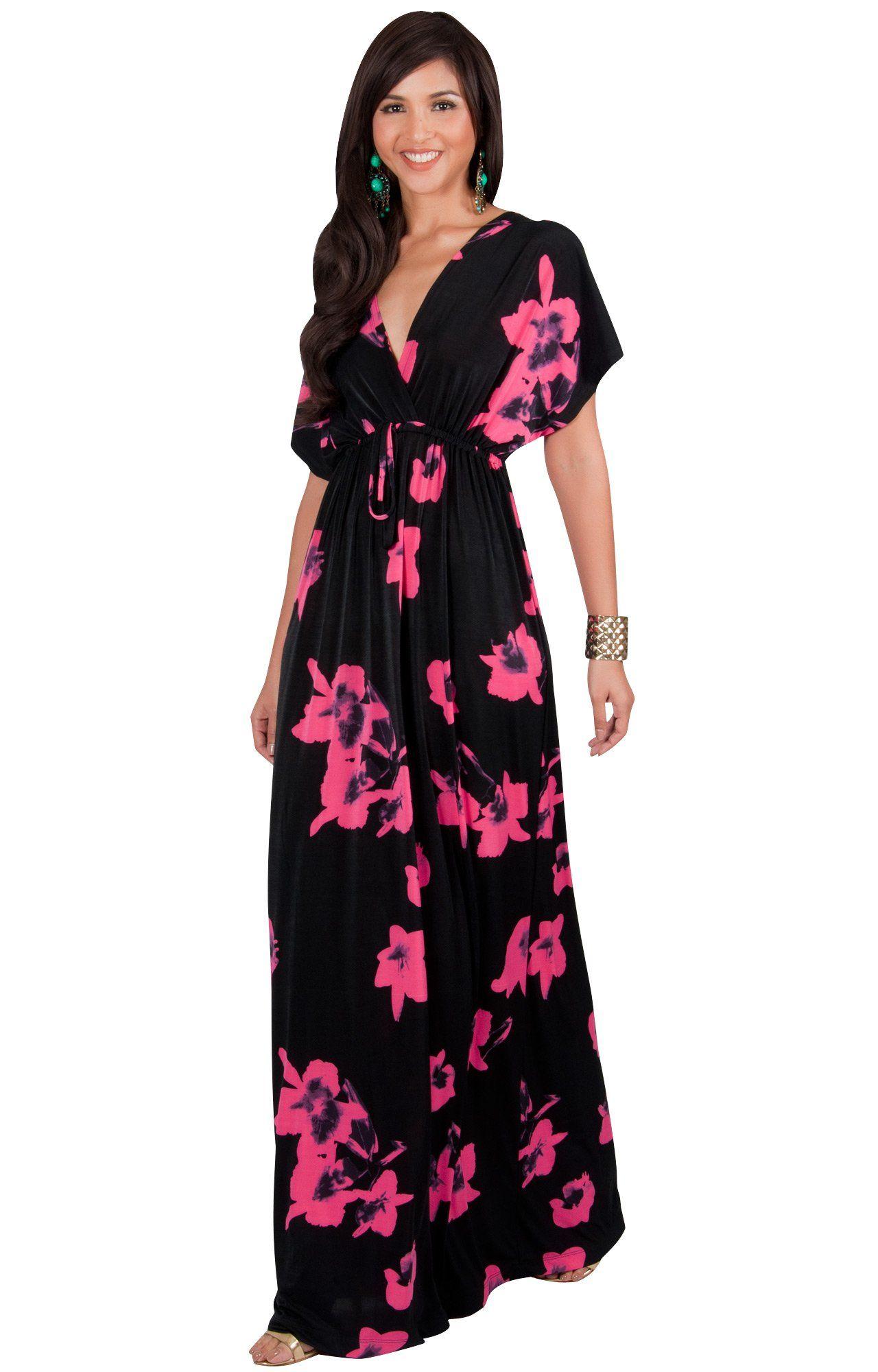 4d19037be91 Maternity Styles - smart maternity maxi dress   KOH KOH Womens Long Kimono  Short Sleeve Floral Summer VNeck Flowy Sundress Sundresses Print Cute Casual  ...