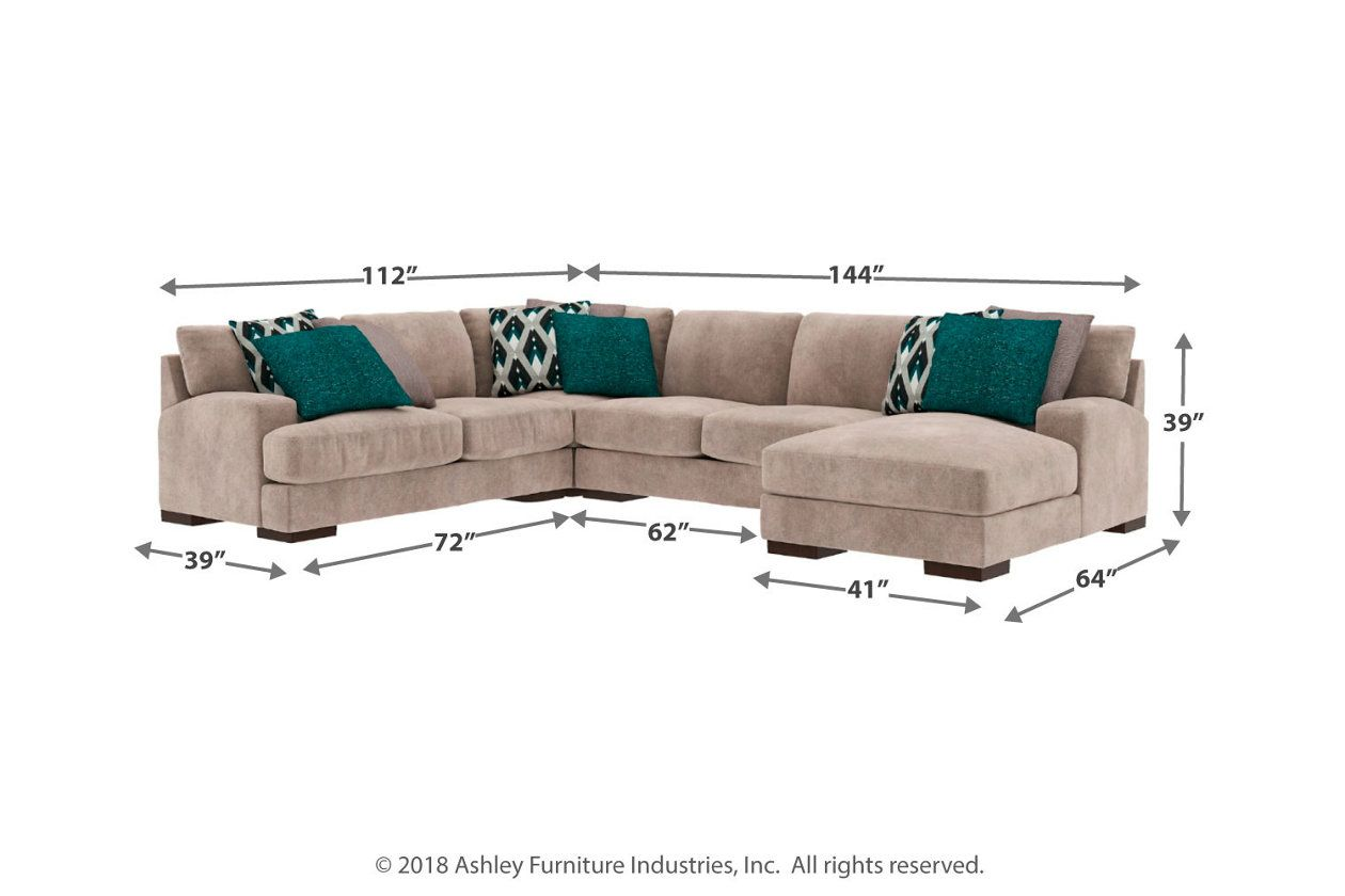 Best Bardarson 4 Piece Sectional With Chaise Sectional The 400 x 300