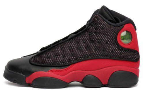 a407e12ba2849a Nike Air Jordan 13 Retro  black white red (GS) Kids 414574 010 on ...