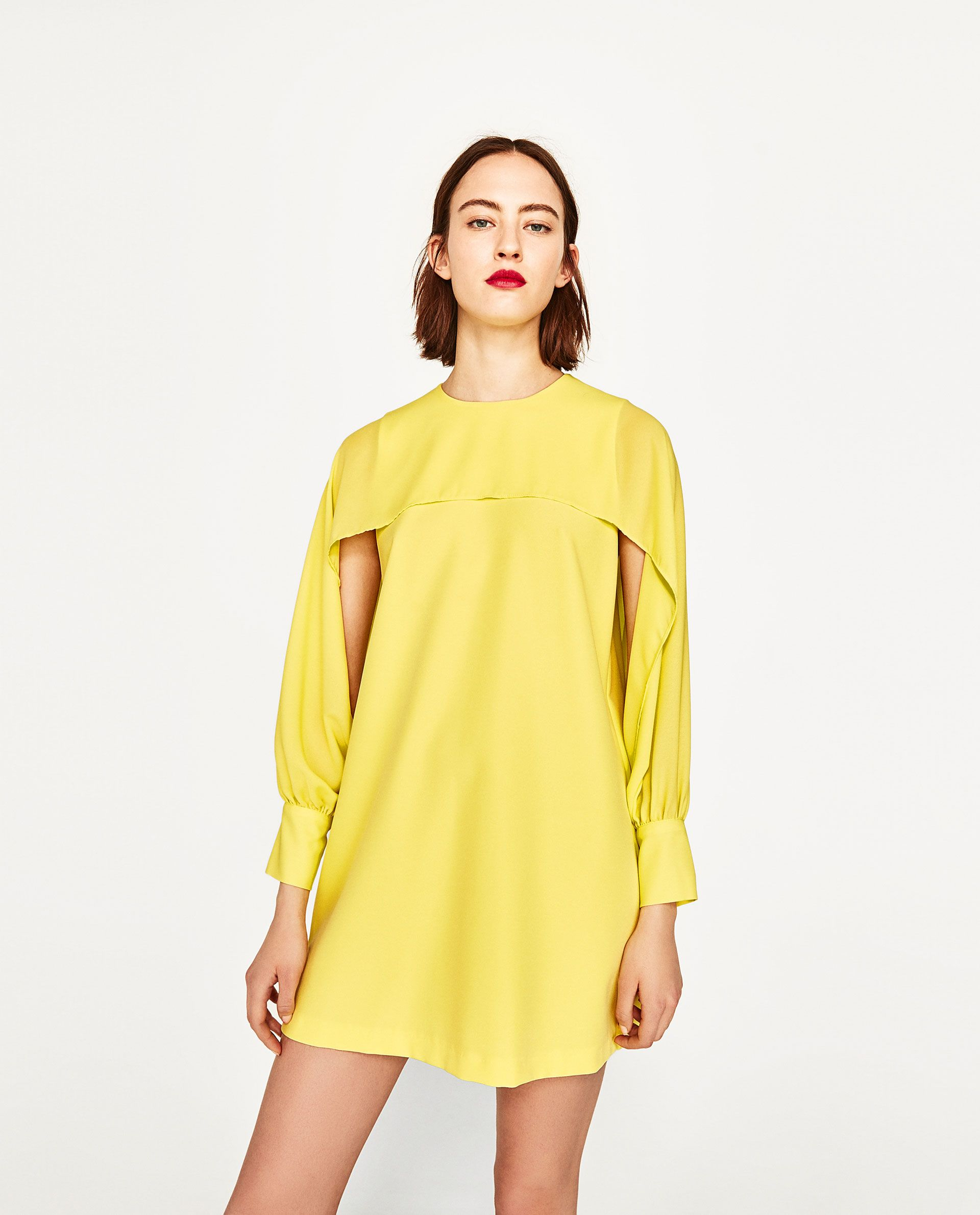 Image of dress with open sleeves from zara zara greatest online