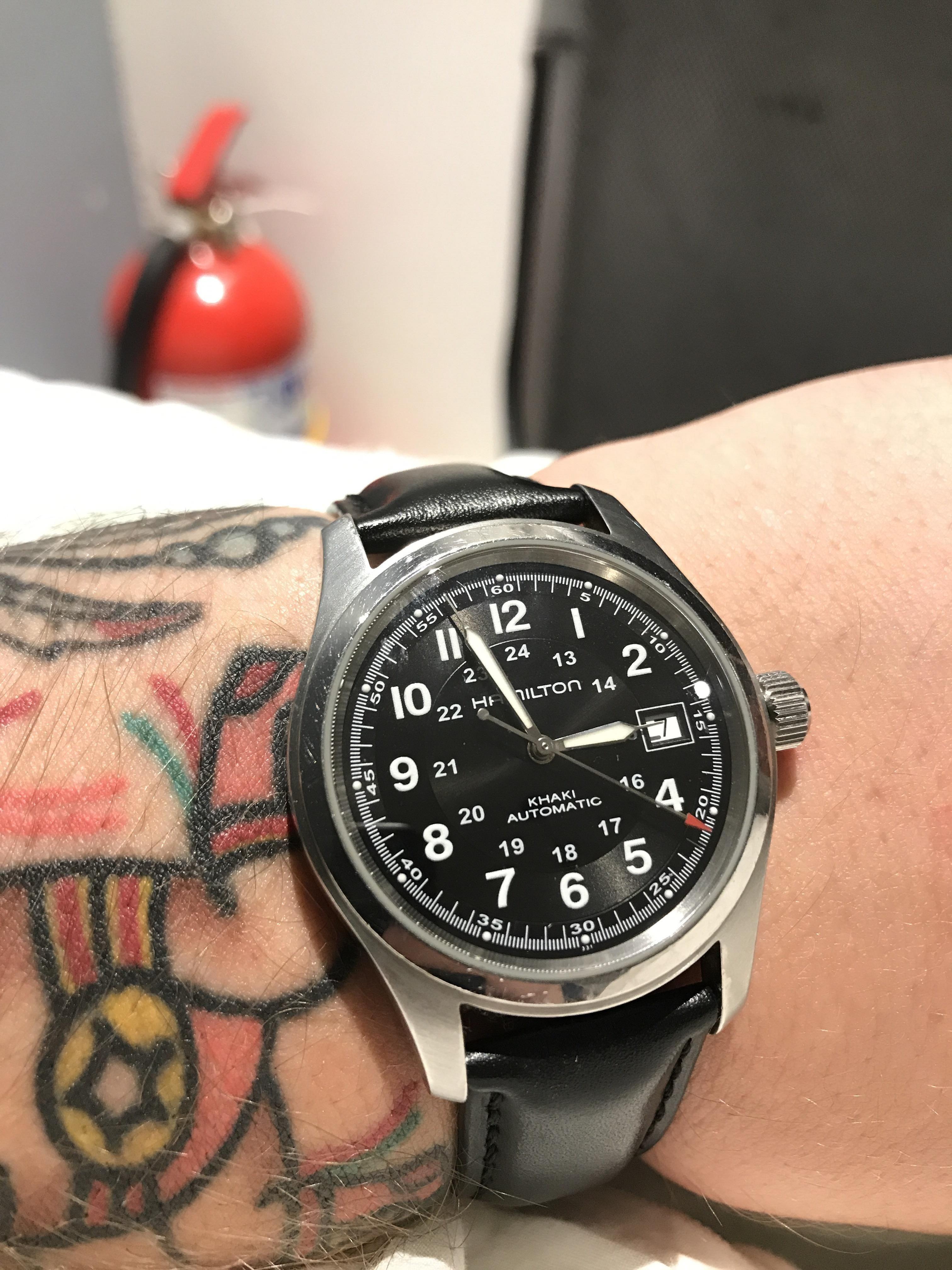 fe0b84f93 Hamilton] khaki field automatic 38mm | Watches | Hamilton khaki ...