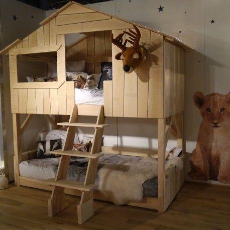 lit superpose original pour chambre d enfants cabane