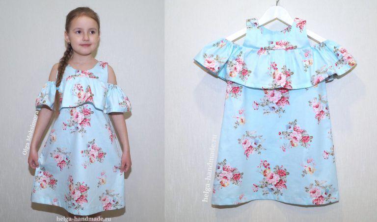 e473ddf68dc Летнее платье-сарафан с воланом для девочек своими руками
