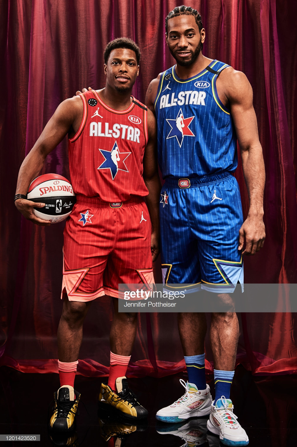 Kyle Lowry Of Team Giannas And Kawhi Leonard Of Team Lebron Pose For In 2020 Kyle Lowry Nba Players New Balance Outfit