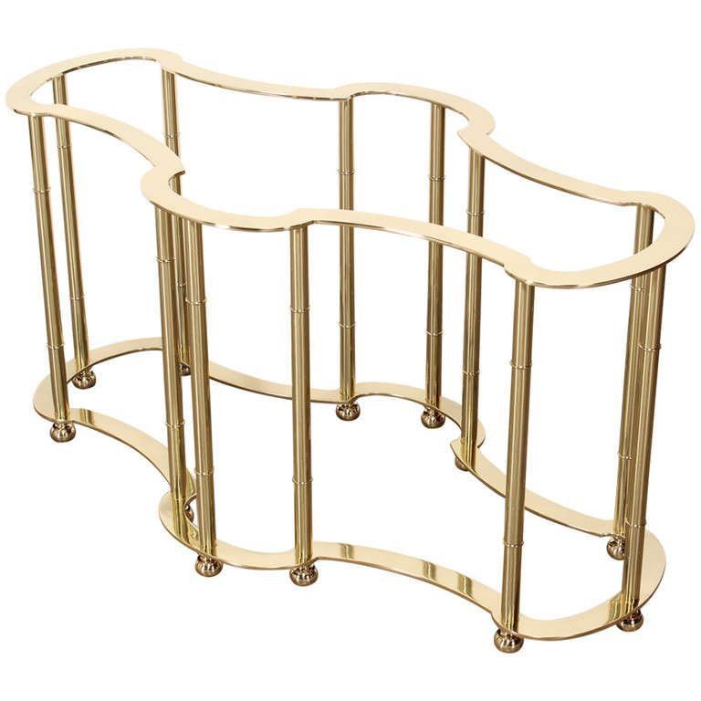 Excellent Brass Mastercraft Dining Table From A Unique