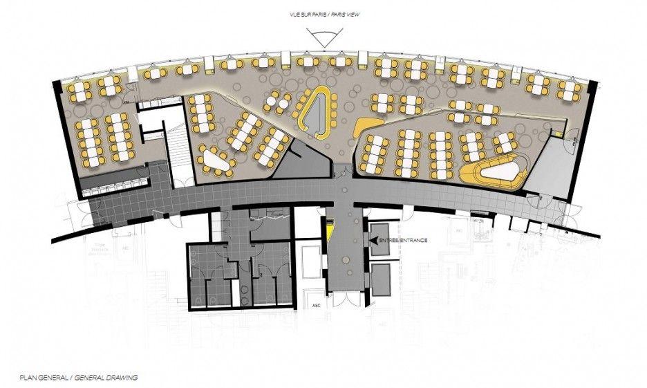 Ciel De Paris Restaurant By Noé Duchaufour Lawrance   LOVE The Floor Plan!