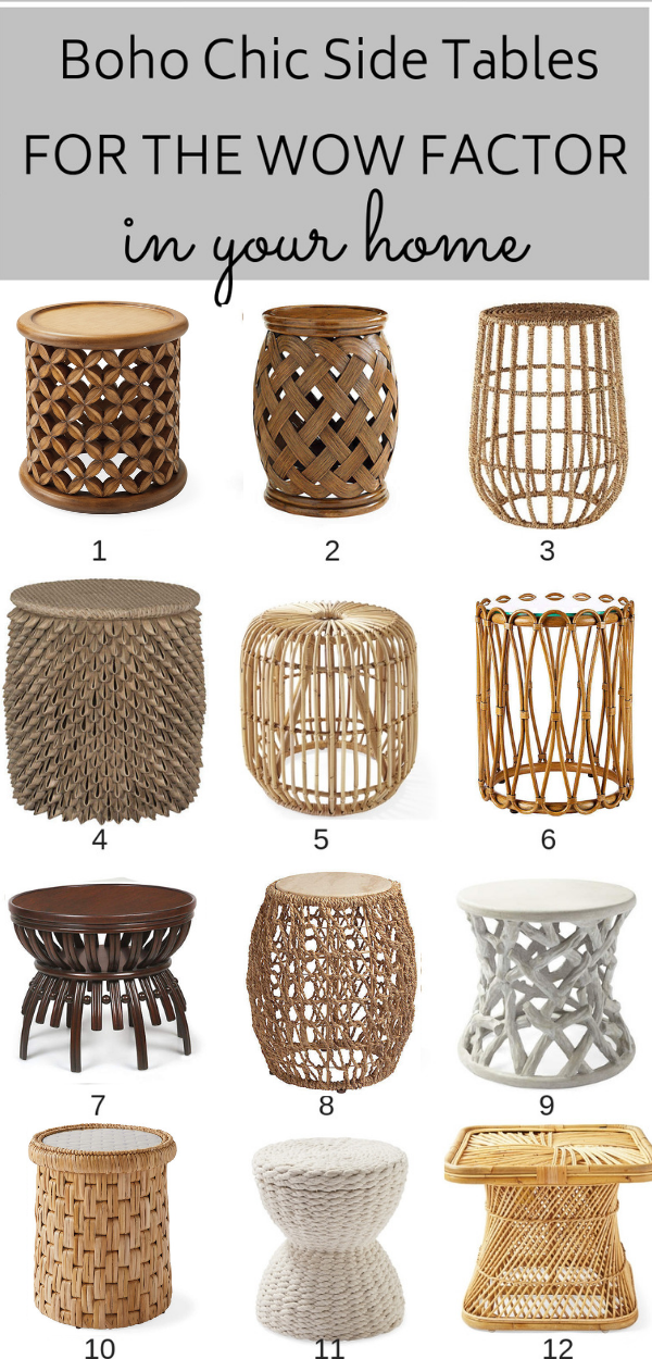 12 Boho Chic Side Tables For That Wow Factor! -   15 room decor Chic side tables ideas