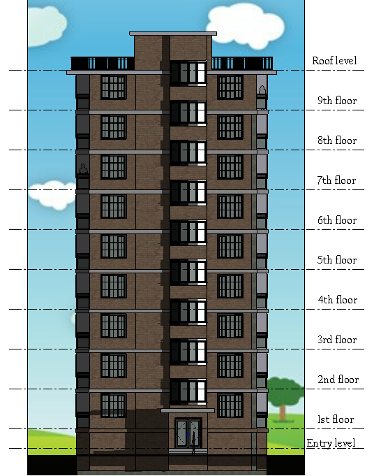 Apartment Building Elevation front elevation | apartment house design. revit | pinterest