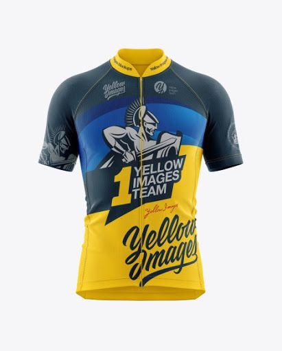 Download Free Men's Cycling Jersey Mockup (PSD) en 2020 | Jersey, Free