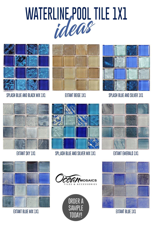 waterline pool tile ideas 1x1