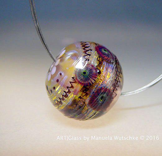 Künstler Glas Lampwork Bead Runde Glasperle von manuelawutschke