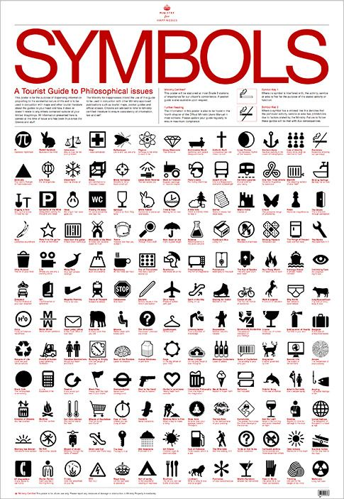 symbol list for tourists health