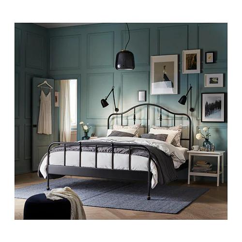 SAGSTUA black, Lönset, Bed frame, Standard Single IKEA