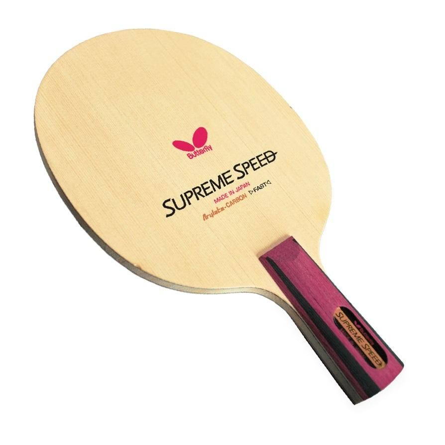 Supreme Speed Cs Fast And Precise For Relentless Attacks Supreme Speed Cs Is A 3 Ply Arylate Carbon Butterfly Table Tennis Table Tennis Table Tennis Racket