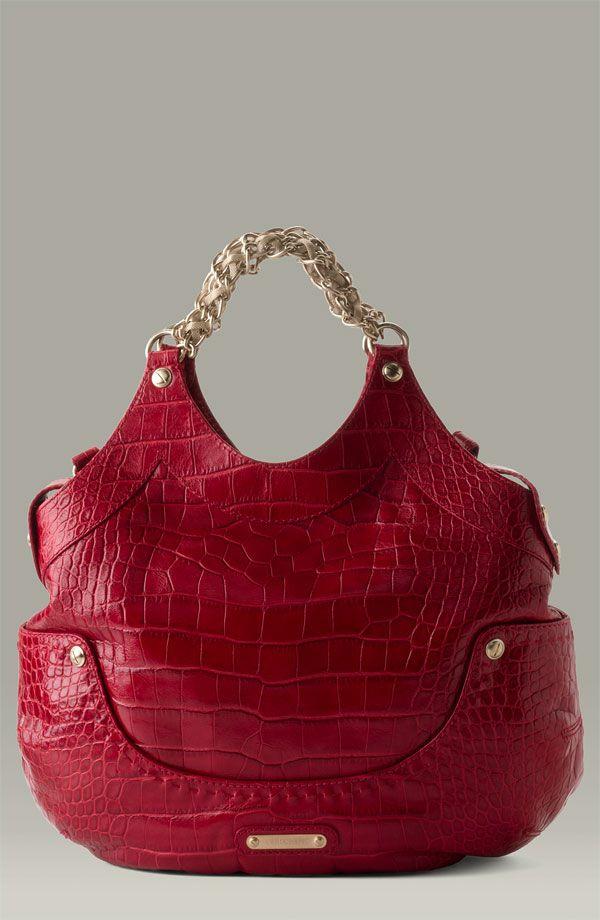 10567f3c81 ... Red Buckled Tote Women s Handbags. Versace ~  Kiss  Crocodile Embossed  Shopper 2015