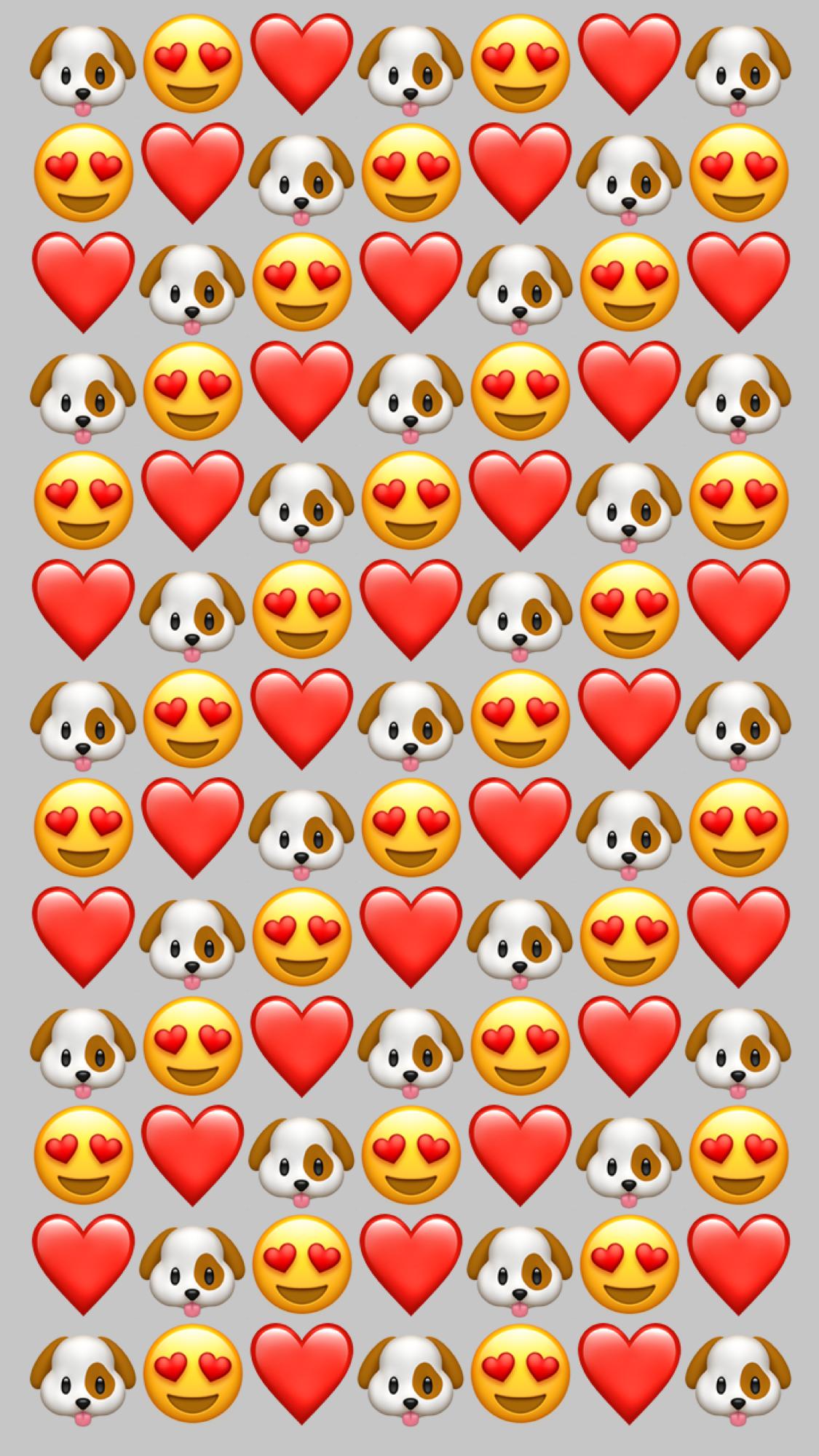 Wallpaper Dog Iphone Love Whatsapp In 2019 Emoji Wallpaper