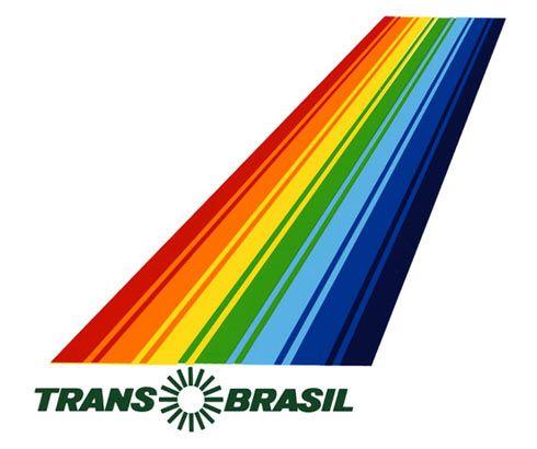 Trans Brasil Rainbow logo design | Aerolineas, Lineas aereas ...