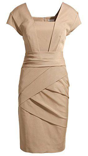 Women's Slim Pleat Boat Neck Pencil Dress (S, Khaki) Iwoo http://www.amazon.com/dp/B00N3LGI7M/ref=cm_sw_r_pi_dp_RqMFub13TBJ8K