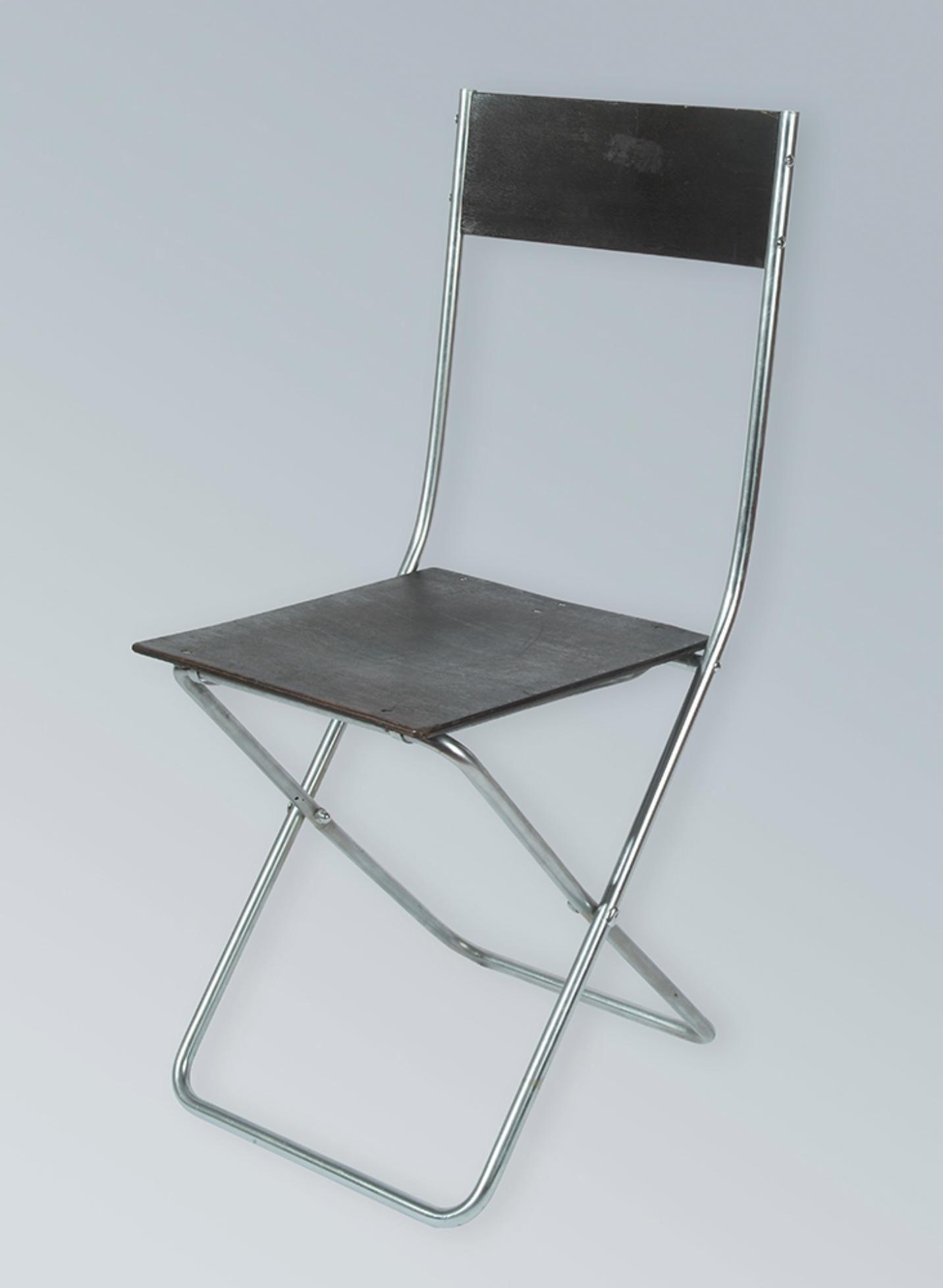 Folding Chair Design Alfred Arndt 1928 Production  # Muebles Bauhaus Caracteristicas