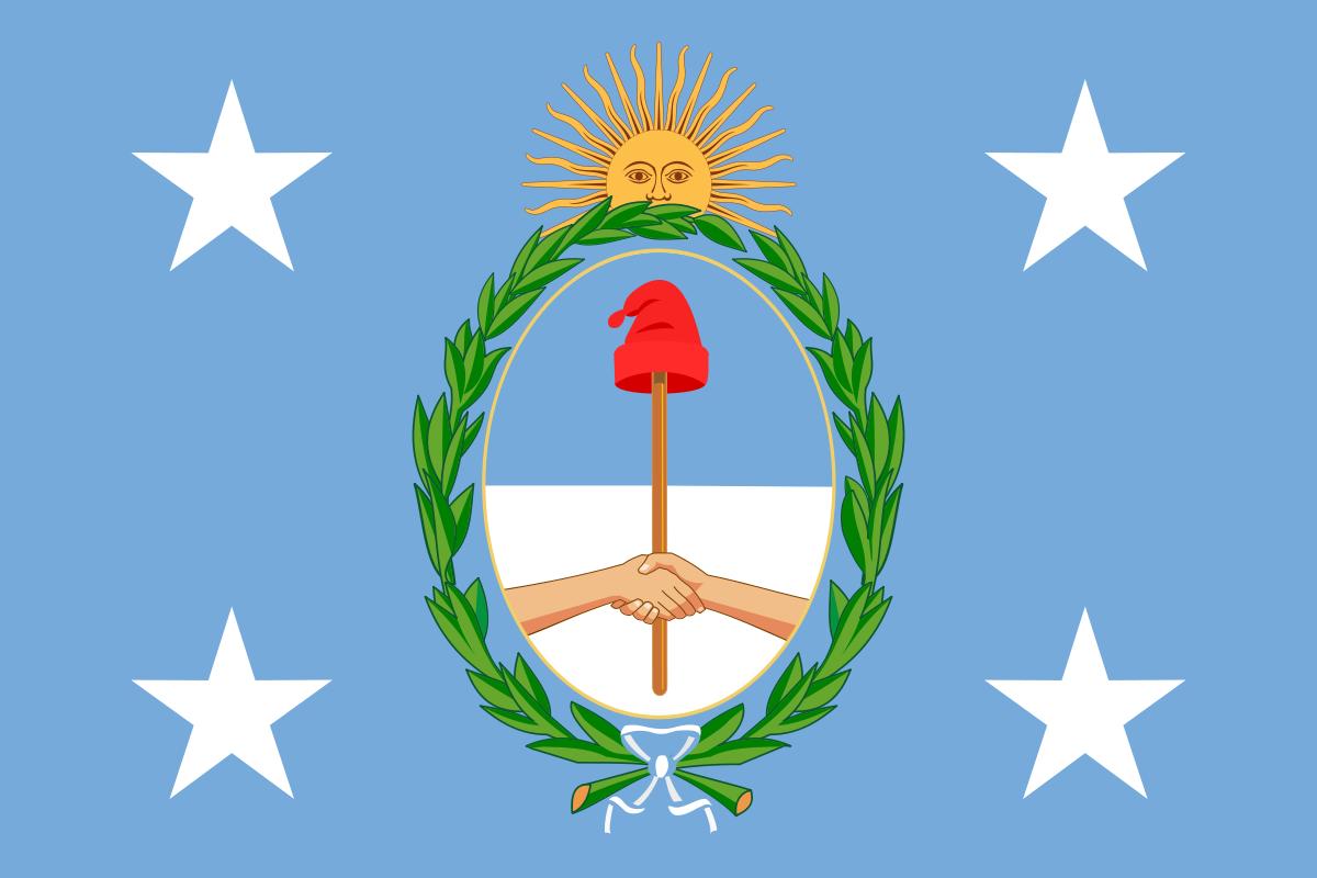 Bandera presidencial de Argentina - Wikipedia, la enciclopedia libre ...