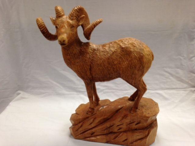Bighorn Sheep 17 Quot L X 16 Quot H 395 00 Cdn Wildlife Wood