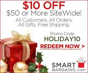 Smart Bargains Offers $10 Off Your $50 Purchase + More