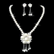 bridal pearl jewelry sets - Google Search
