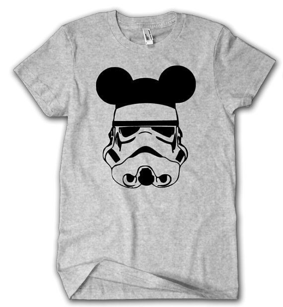 edd9e9b6 This shirt features a storm trooper sporting mickey ears. When checking  out, please send seller color of vinyl design. If you would like a custom  ...