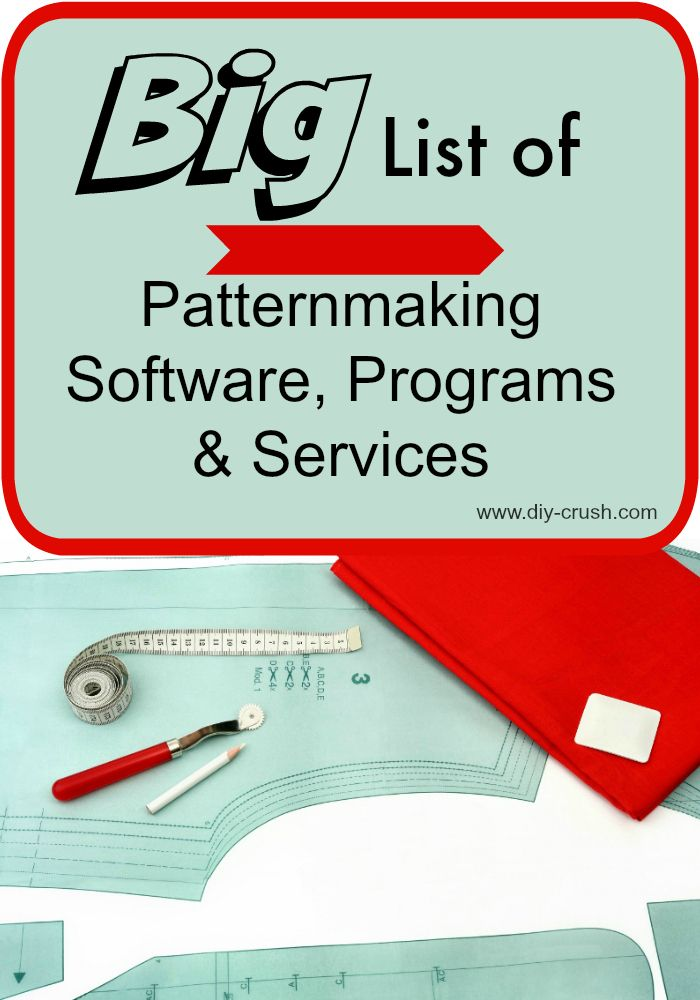 Big List Of Pattermaking Software & Programs | Sewing