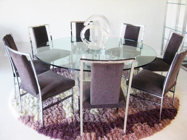 Glass Dining Table Contemporary Rectangle Oval Round Glass
