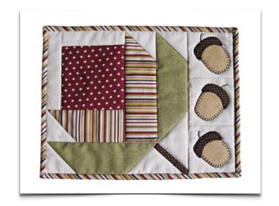 Free Quilt Pattern: Candle Mat | Block Quilt | Pinterest | Manteles ...