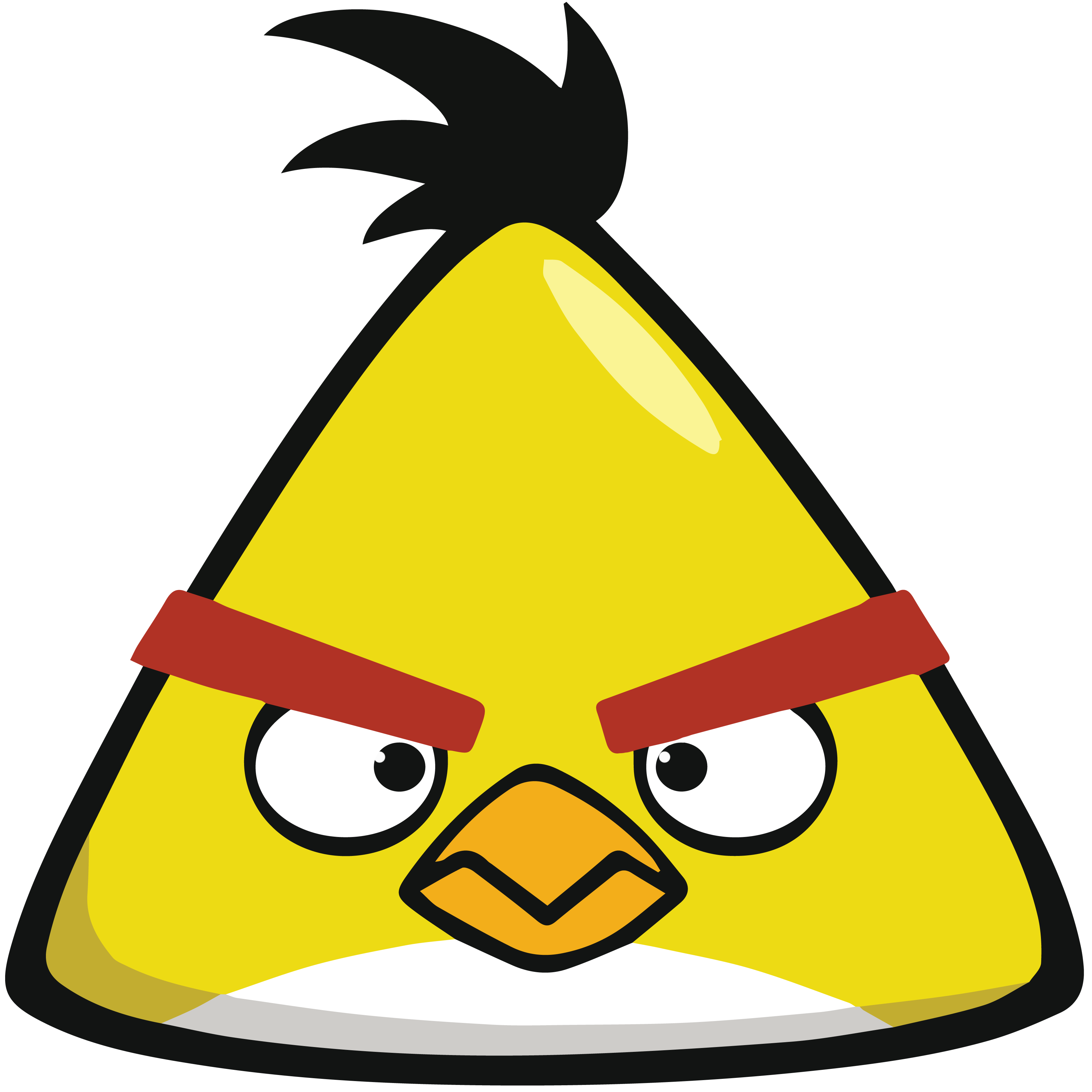 Angry Birds Chuck Yellow Super High Quality By Tomefc98 Deviantart Com On Deviantart Chuck Angry Birds Angry Birds Characters Angry Birds