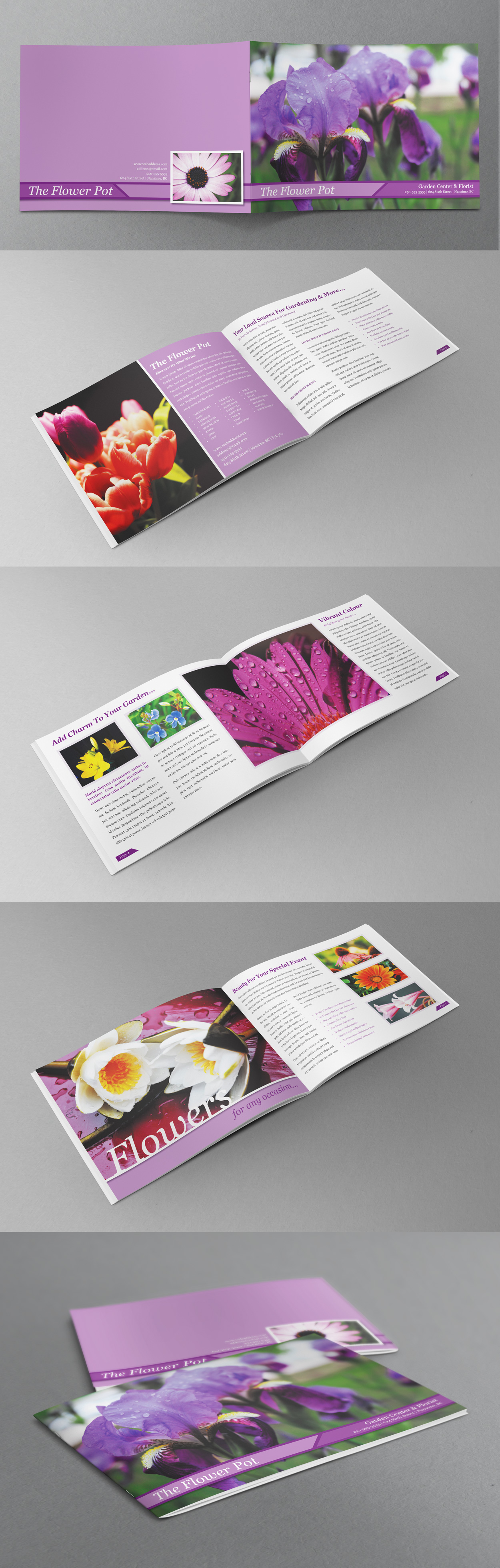 Free Booklet Template Impressive Flower Booklet Preview  Free Indesign Templates  Pinterest .