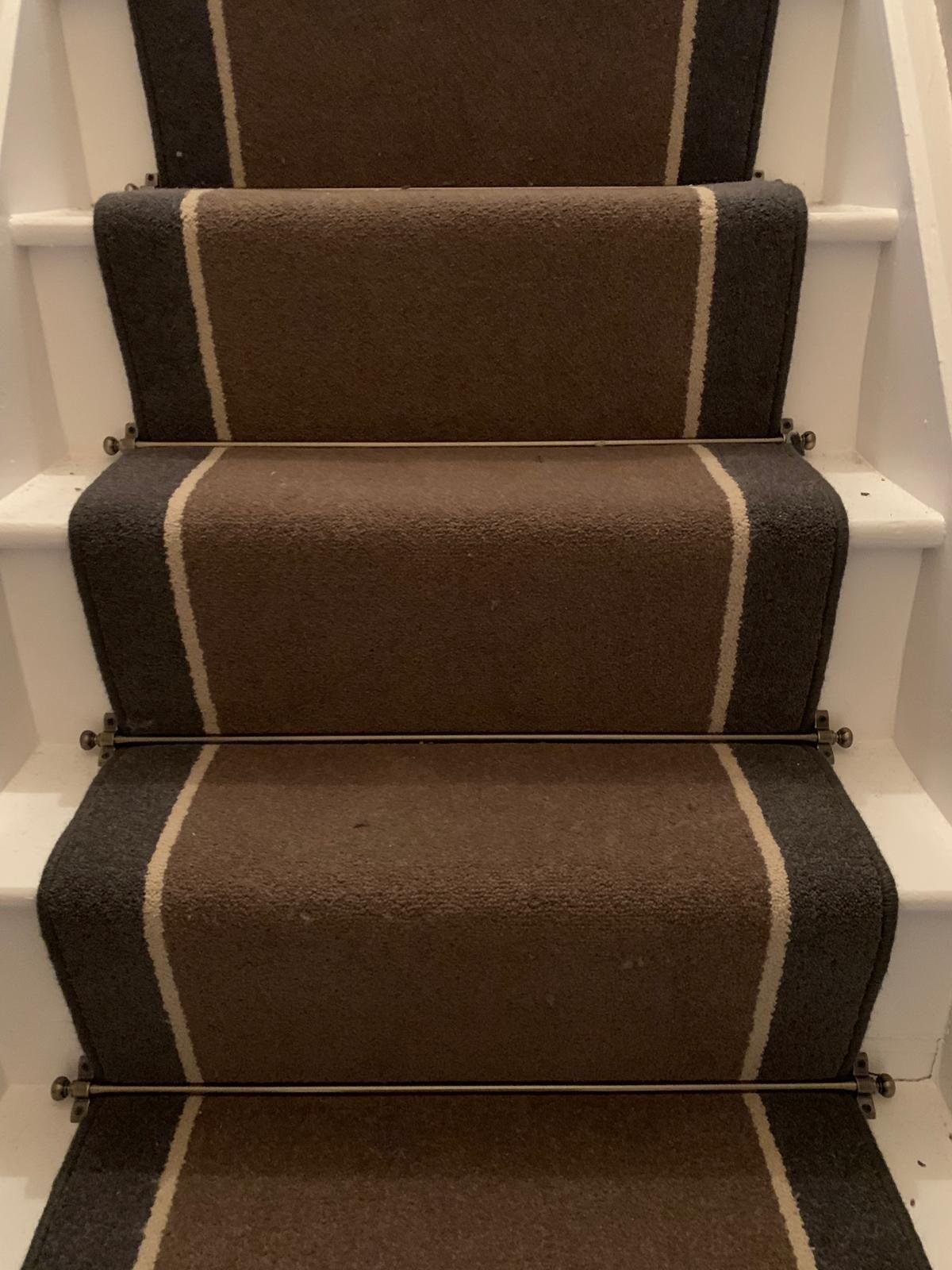 Brintons Bell Twist Mushroom York Stone Smoke Stair   Twist Carpet For Stairs
